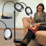 Лампа-лупа напольно-настольная  многофункциональная