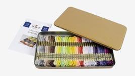 Набор новых оттенков мулине DMC цвета 1 - 35 в золотой коробке
