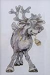 """Схема для вышивки """"Рождественский олень"""""""