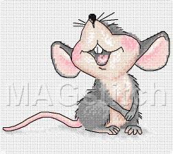 Вышивка схема скачать мышка