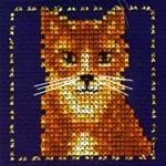 Набор для вышивки крестом Рыжий котенок