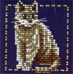 Набор для вышивки крестом Серый котенок