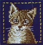 Набор для вышивки крестом Серый кот
