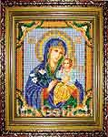 Набор для вышивки бисером Богородица Неувядаемый цвет икона - вышивка бисером
