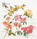 Набор для вышивки крестом Группа цветов розы