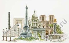 """Набор для вышивки крестом Набор для вышивания """"Париж"""""""