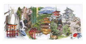 """Набор для вышивки крестом Набор для вышивания """"Япония"""""""