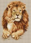 Набор для вышивки крестом Львы