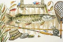 """Набор для вышивания """"Время ловить рыбу"""""""
