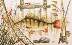 """Набор для вышивания """"Удачной рыбалки"""""""