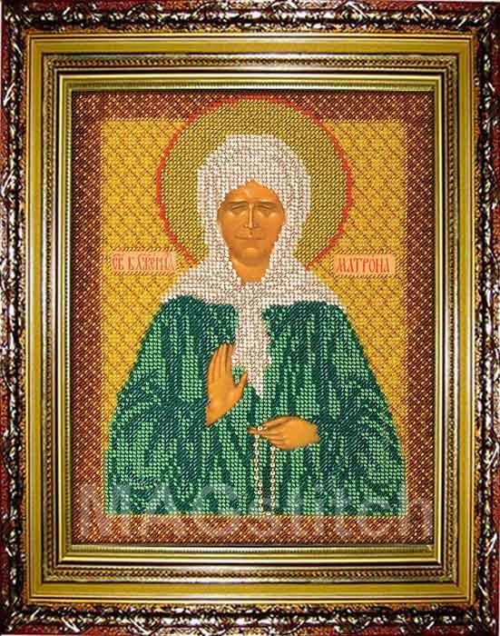 Схема вышивки крестом иконы матрона московская