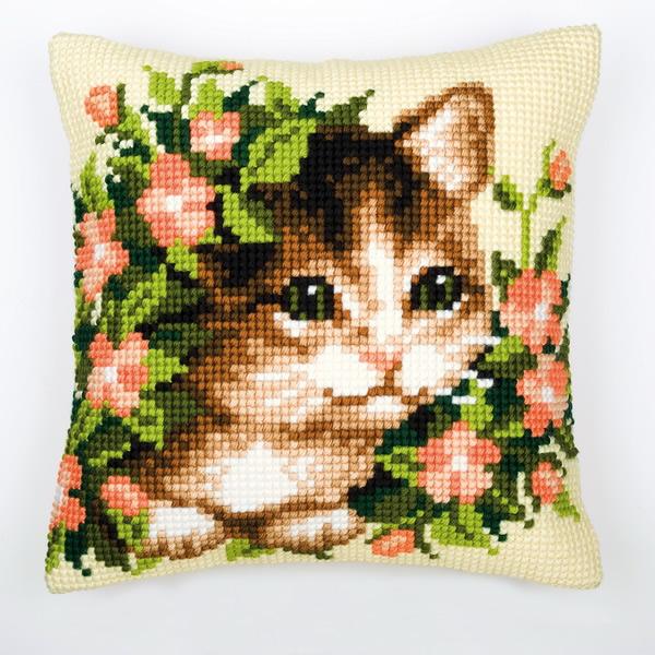"""Подушка для вышивания """"Котенок"""