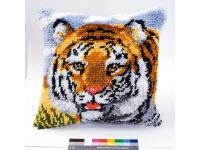 """Набор для вышивки крестом Подушка """"Тигр"""" ковровая техника"""