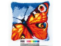 """Набор для вышивки крестом Подушка """"Красная бабочка"""" ковровая техника"""