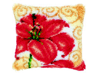"""Набор для вышивки крестом Подушка """"Цветок"""" ковровая техника"""