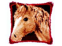 """Набор для вышивки крестом Подушка """"Лошадь"""" ковровая техника"""