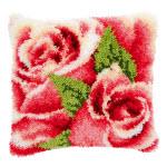 """Набор для вышивки крестом Подушка """"Розы"""" ковровая техника"""