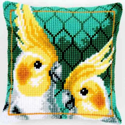 """Подушка для вышивания """"Попугаи"""