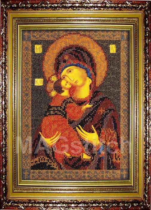 Вышивка владимирская богородица