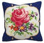 """Набор для вышивки крестом Подушка для вышивания """"Букет с розой"""""""