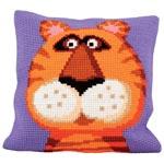 """Набор для вышивки крестом Подушка для вышивания """"Тигр"""""""