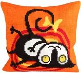 """Набор для вышивки крестом Подушка для вышивания """"Кот играет"""""""