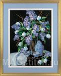 Набор для вышивки гладью Сирень и Кружева - Lilacs and Lace