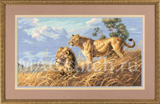 Набор для вышивки крестом African Lions - Африканские львы