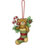 Набор для вышивки крестом Sw Bear Ornament - Украшение Мишка
