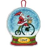 Набор для вышивки крестом Love Showgl Ornament - Украшение Снежный шар Любовь