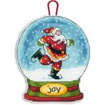 Набор для вышивки крестом Joy Showglobe Ornament - Украшение Снежный шар Радость