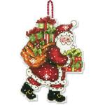 Набор для вышивки крестом Susan Winget Santa w Bag - Украшение Санта с мешком