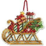 Набор для вышивки крестом Sleigh Ornament - Сани