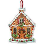 Набор для вышивки крестом Gingerbread House Ornament - Пряничный домик