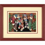 Набор для вышивки крестом The Stockings were hung - Рождественские носки
