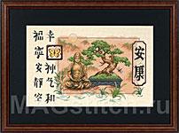 Набор для вышивки крестом Bonsai and Buddha - Бонсай и Будда