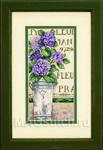 Набор для вышивки крестом Hydrangea Floralj - Букет с гортензией