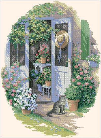 Вышивка крестом garden
