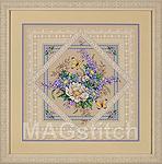 Набор для вышивки крестом Flowers and Lace  - Цветы и кружева
