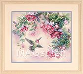 Набор для вышивки крестом Hummingbird and Fuchsias - Колибри и фуксии