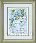 Набор для вышивки крестом Hummingbird and Morning Glories - Колибри и утренние глории