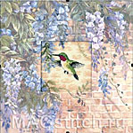 Набор для вышивки крестом Hummingbird and Wisteria - Колибри и глицинии