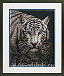 Набор для вышивки крестом Into the Light - Белый тигр