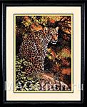 Набор для вышивки крестом Leopard s Gaze - Пристальный взгляд леопарда