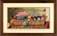 Набор для вышивки крестом Kitty Litter - Маленькие котята
