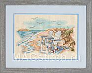 Набор для вышивки крестом Quiet Beach Moments - Тихие минуты на берегу