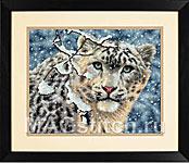 Набор для вышивки крестом Snow Leopard - Снежный барс