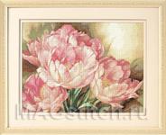 Набор для вышивки крестом Tulip Trio - Трио тюльпанов
