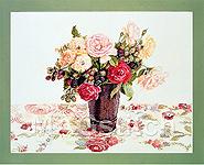 """Набор для вышивки крестом Розы и ежевика - Fujico """"Rose & Raspberry"""""""