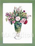 """Набор для вышивки крестом Розы и травы -Fujico """"Roses & Herbs"""""""